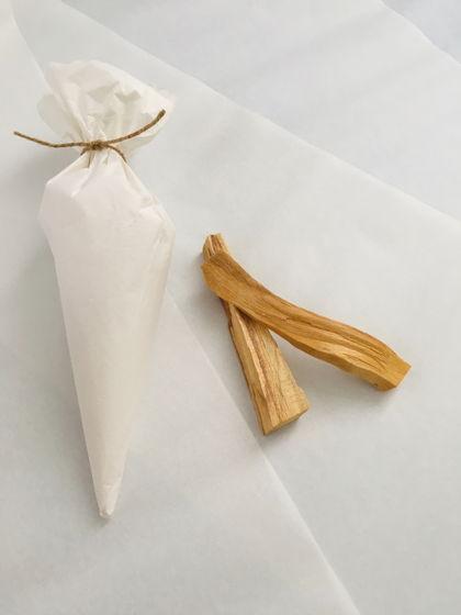 Кулечек с солью для ванны и палочкой Пало Санто