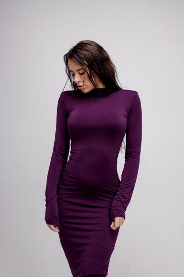 Платье футляр с острым плечом YNT