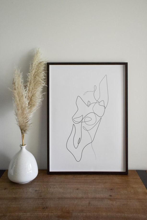 Постер в стиле минимализм из коллекции «Body Women»