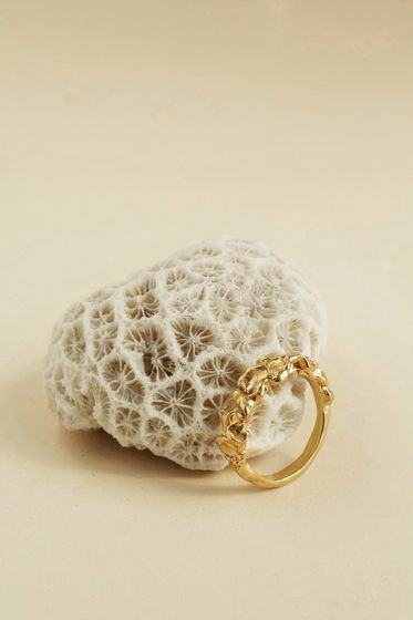 кольцо пена волн в позолоте