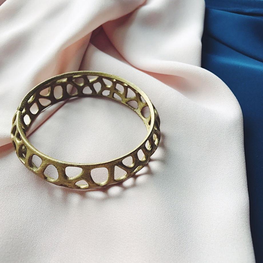 """Браслет """"Voronoi"""" цвет скифское золото"""