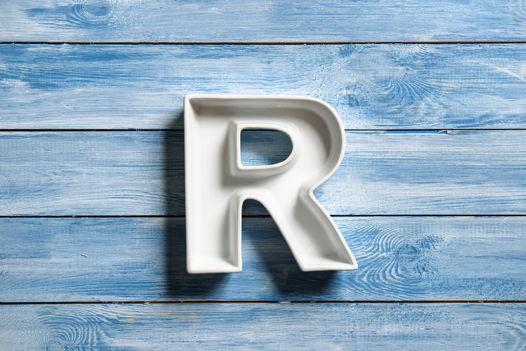 Керамическая буква R