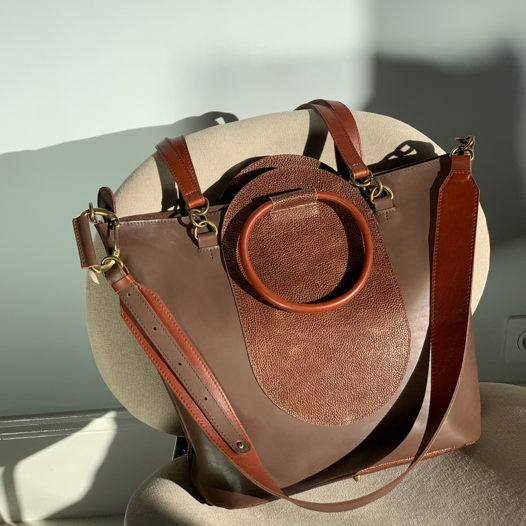 Кожаная сумка Arc Chocolate