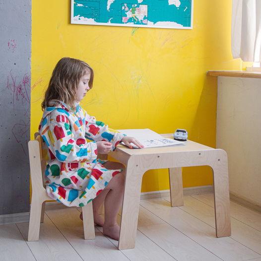 Комплект детской мебели стол и стул Киддис, деревянный, цвет натуральное дерево