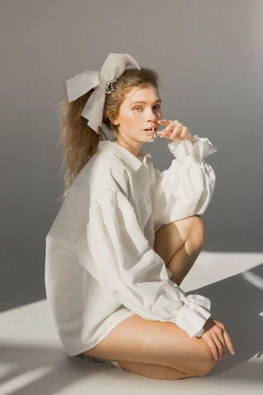 Базовая рубашка белый лён