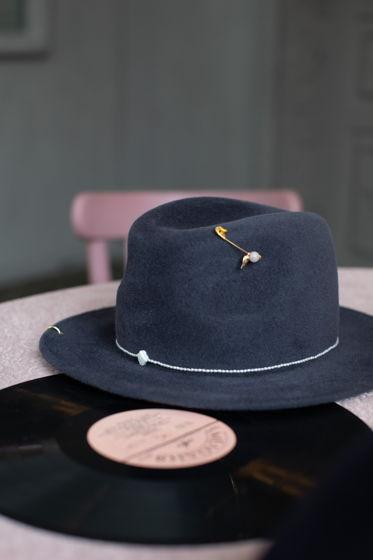 Шляпа Оксфорд из велюра