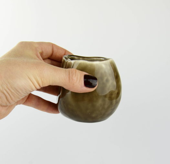 """Керамическая чашка-очоко (мини) цвета """"Шоколад"""" ручной работы"""