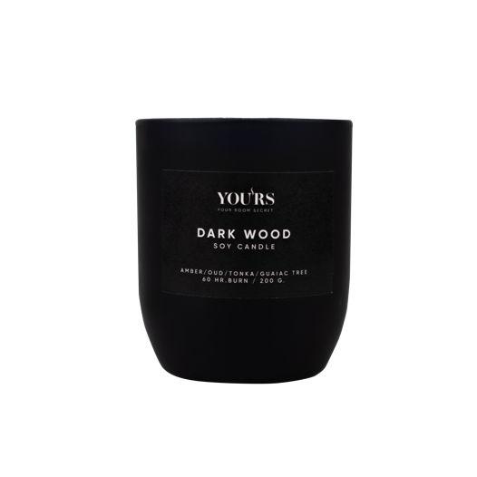 Ароматическая свеча из соевого воска Dark Wood 200 гр