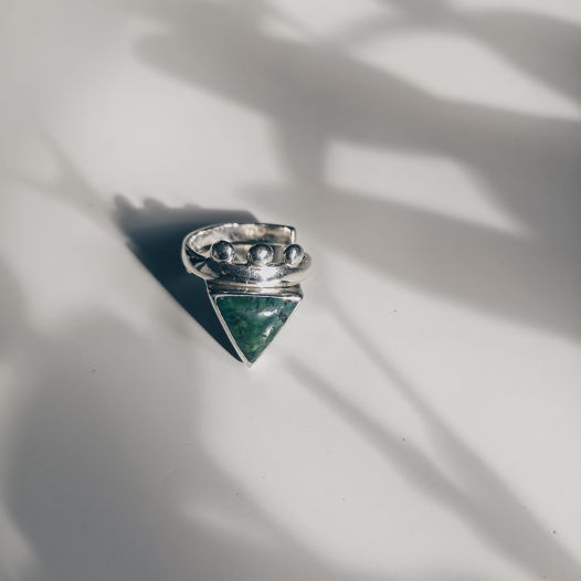 кольцо с бирюзой BOHO TRIANGLE