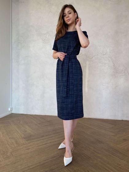 Платье миди (темно-синее)