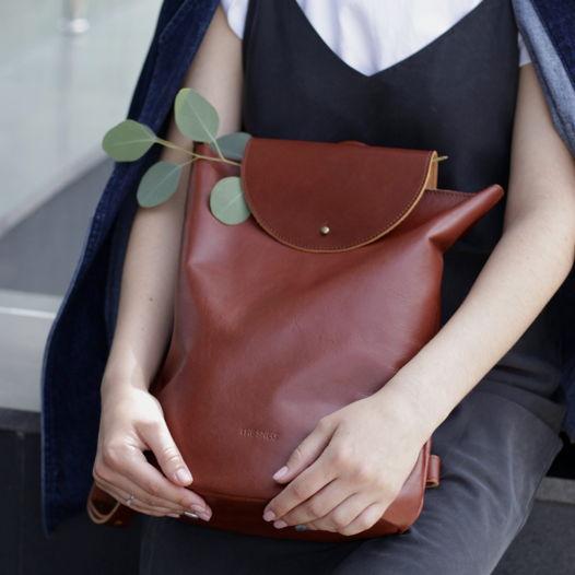 Кожаный рюкзак Flap Pack Chestnut