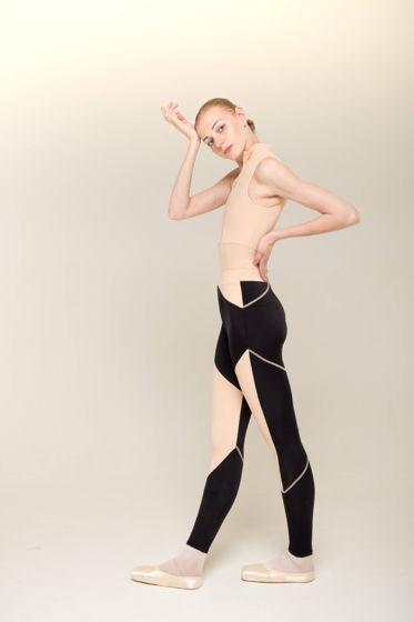 Леггинсы Zi'ггинсы | черный телесный для спорта