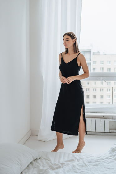Платье комбинация из муслина
