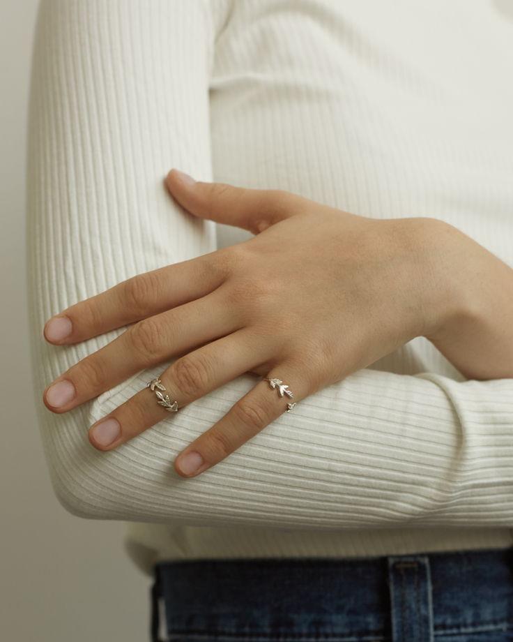 Кольцо на фалангу ЛИСТИКИ