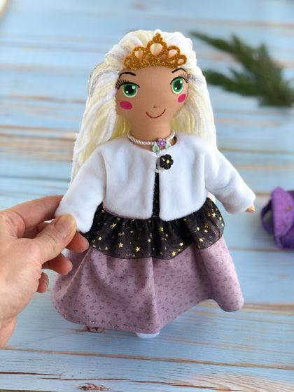 """Текстильная кукла с одеждой """"Новогодняя"""""""