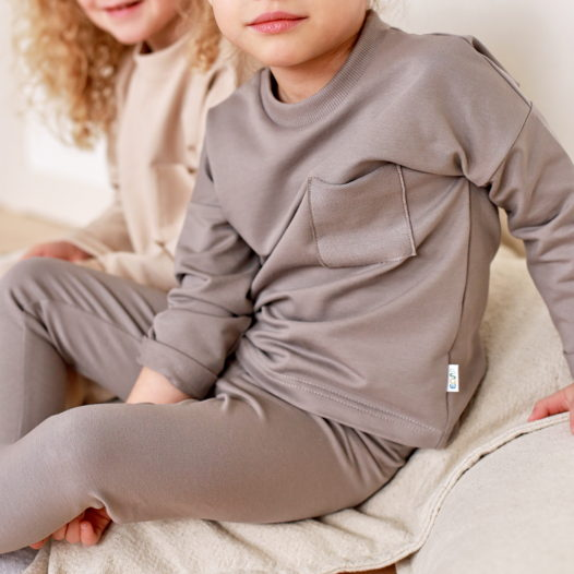 Детский костюм из хлопка с легинсами
