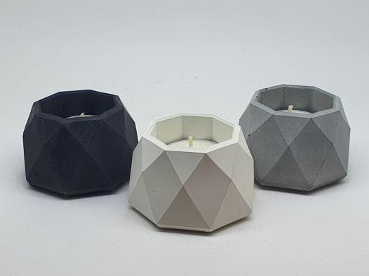 Подсвечник кристалл для чайной свечи из бетона