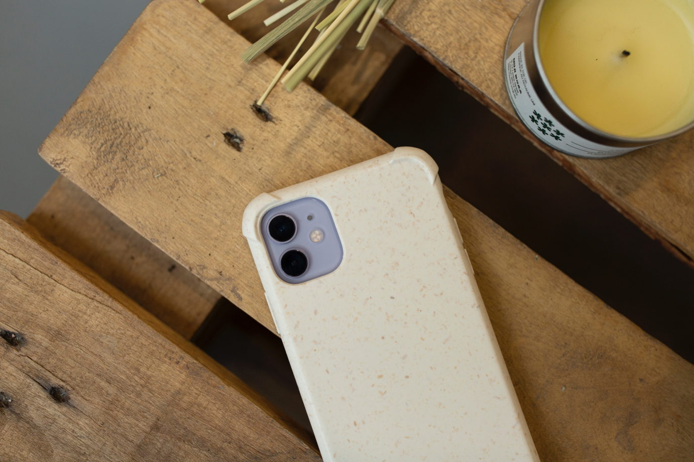 Биоразлагаемый чехол SOLOMA для iPhone XR Пшеница Бампер