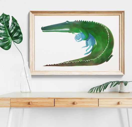 """Постер """"Крокодил плюс кот"""""""