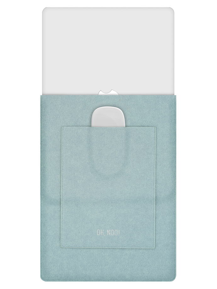 Чехол из фетра для MacBook и ноутбуков, голубой, вертикальный