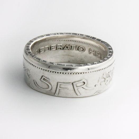 Кольцо из монеты - Швейцария 5 франков