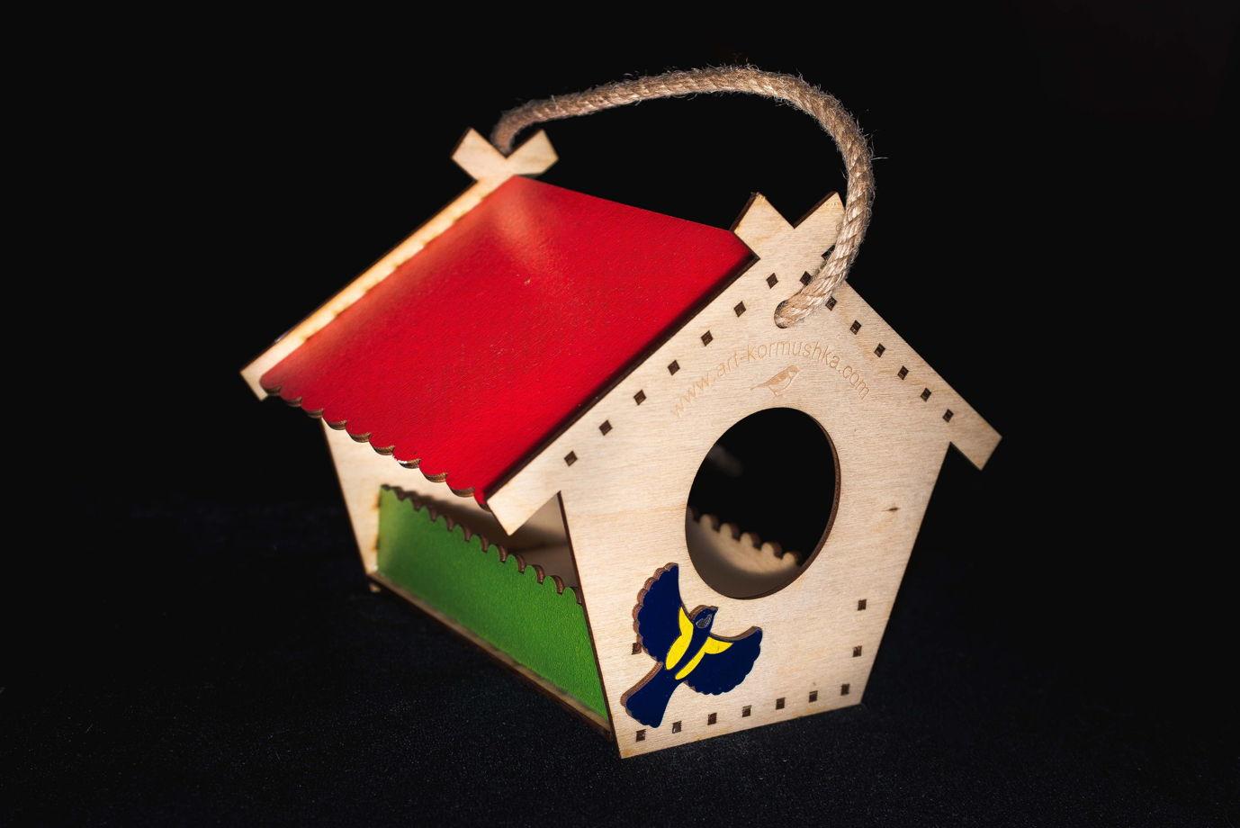 """Небольшая кормушка для птиц """"Теремок Синичка"""""""