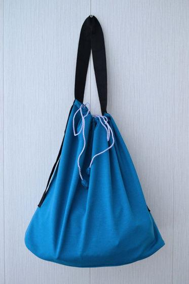 Шоппер-мешок бирюзового цвета