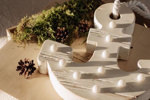 ЯКОРЬ — Авторский светильник, ночник из дерева ручной работы