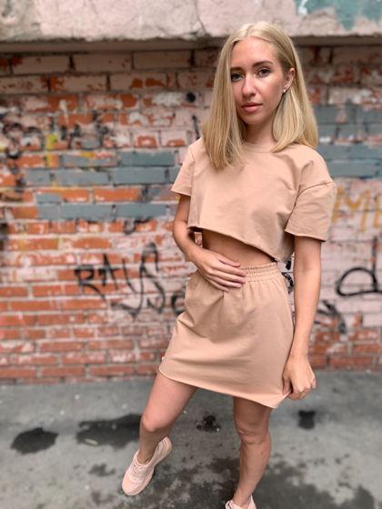 Комплект топ и юбка
