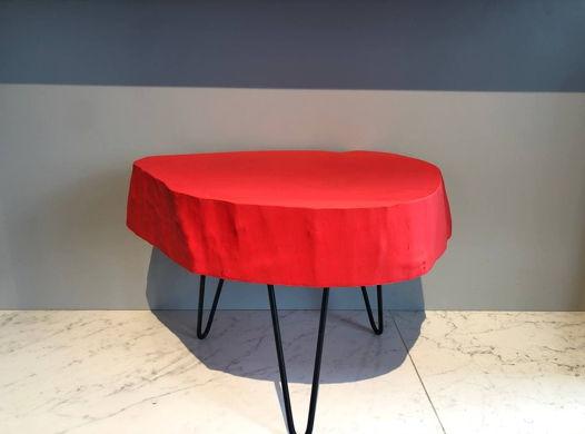 Журнальный стол из спила №1 Adele (Красный)