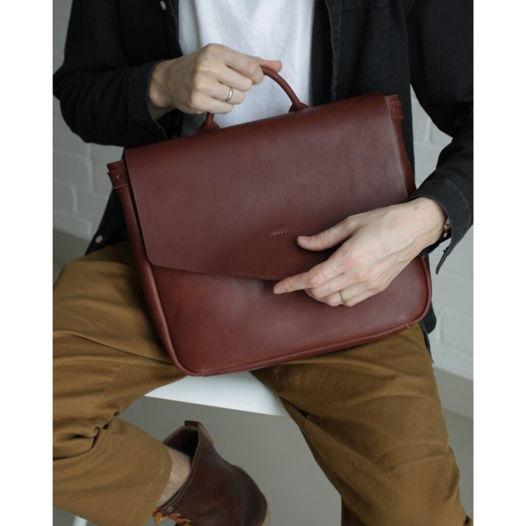 Кожаный рюкзак-портфель Chestnut