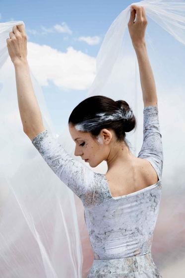 Купальник 2 Рукава, испачканный принтом / боди для балета