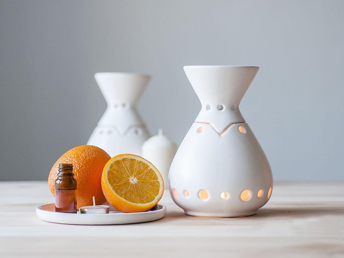 Аромалампа в  Сканди-стиле из керамики