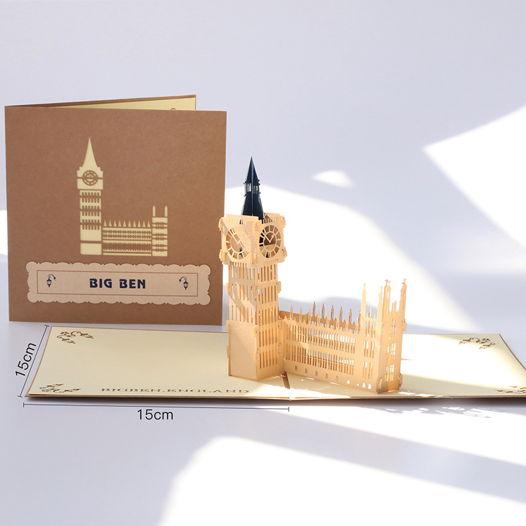 Big Ben England 3D открытка ручной работы