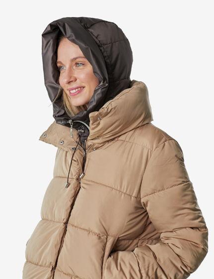 Капюшoн женский зимний коричневый