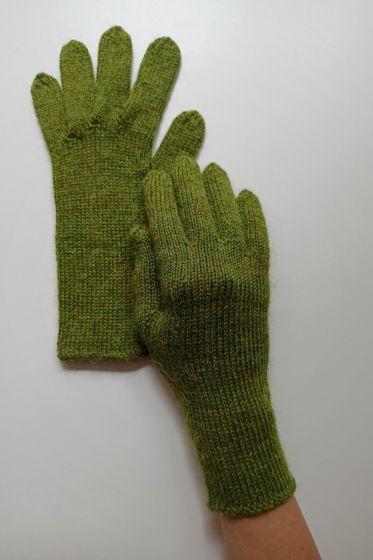Лаймовые перчатки ручной работы