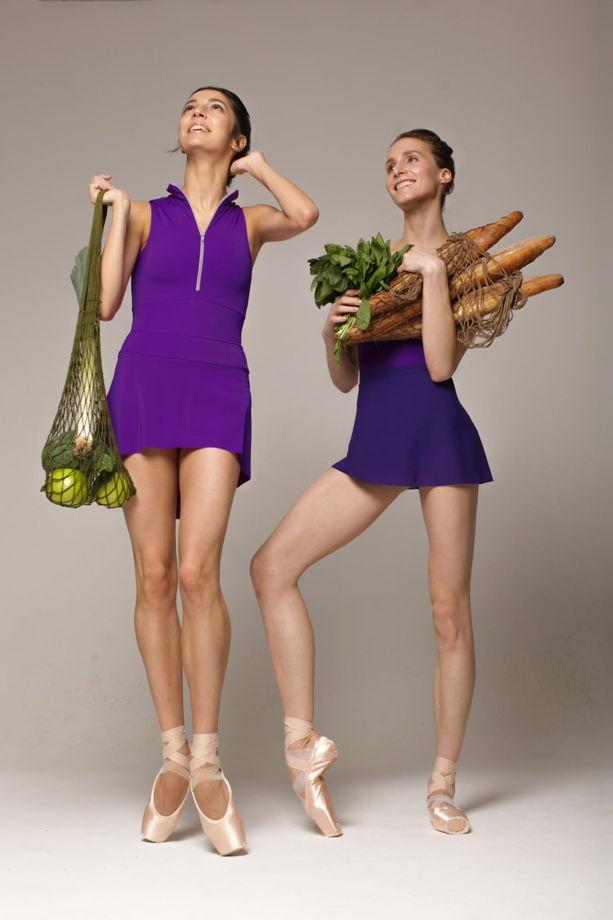 Купальник Молния colour | фиолетовый боди для балета / танцев
