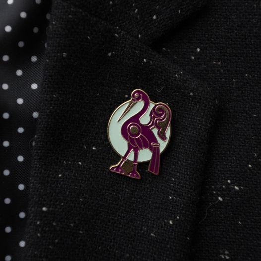 Латунный значок «Мареновая птица»
