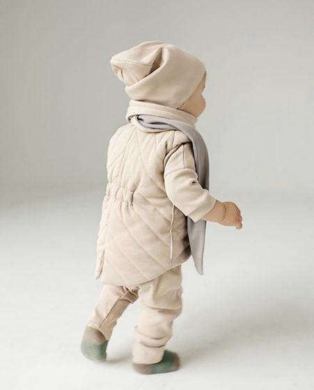 Детский двухсторонний шарф из хлопка в рубчик