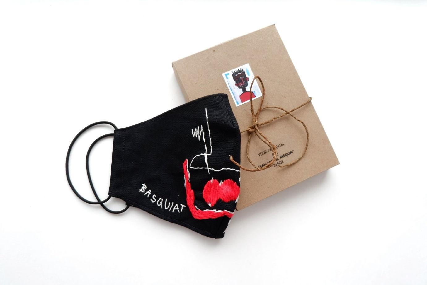 Маска защитная с вышивкой по картине Жана-Мишель Баския