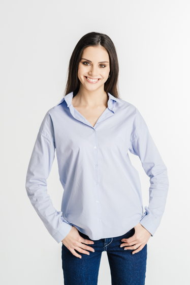 Голубая рубашка из итальянского хлопка