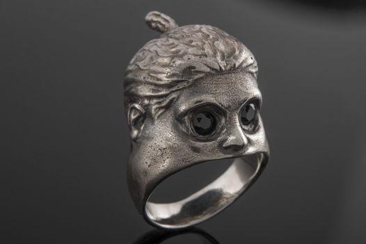 Серебряное кольцо «Безумная Королева»