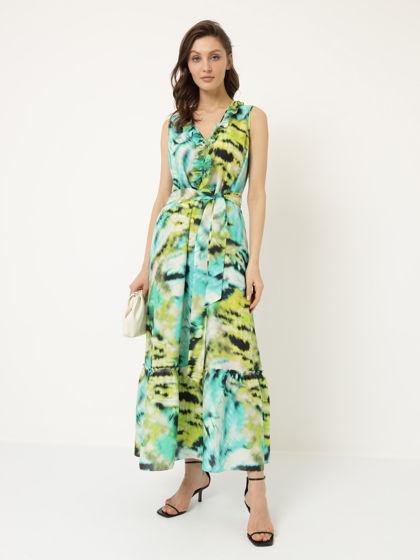 Платье макси бирюза