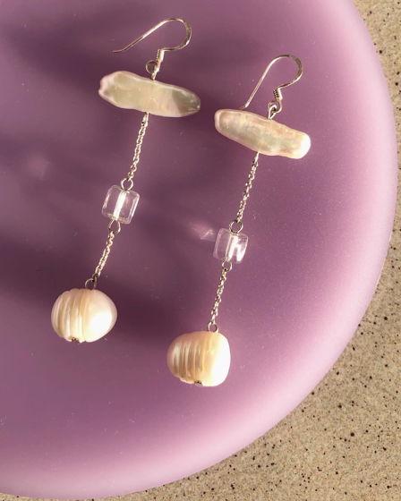 Длинные серьги с жемчугом Candy Pearl