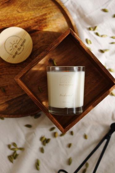 """Соевая свеча """"Тиковое дерево"""" 240 мл"""