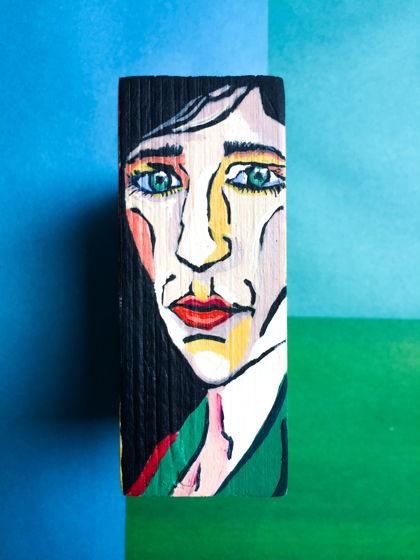 Портрет на кубике (дерево, масло)