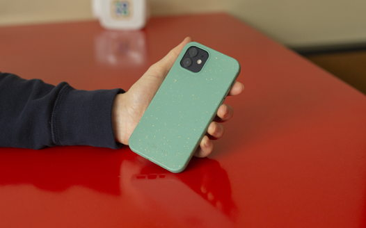 Биоразлагаемый чехол SOLOMA для iPhone 12/12 Pro Мята