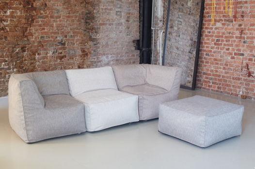 Бескаркасный модульный диван с двумя угловыми модулями Lite