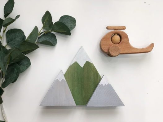 Декоративные горы из сосны