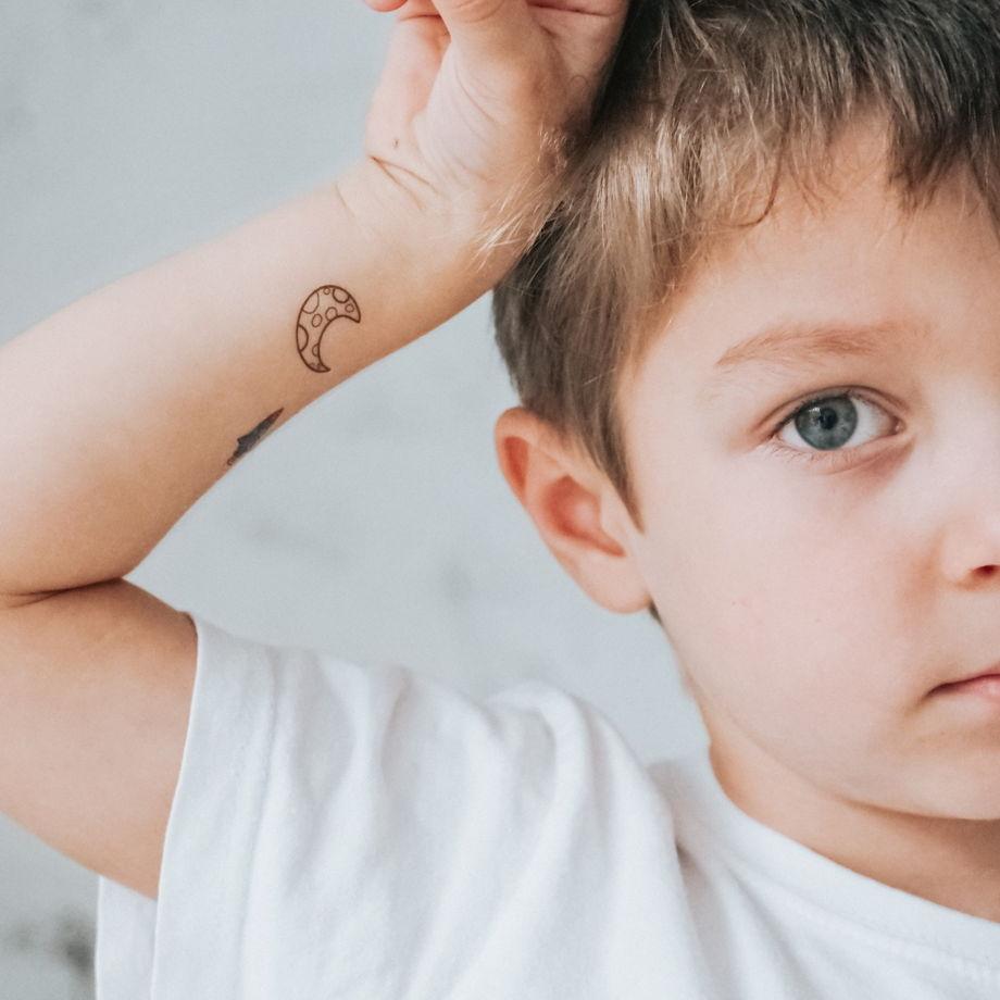 """Временные переводные татуировки MimiToo """"Космос"""" для детей и взрослых"""